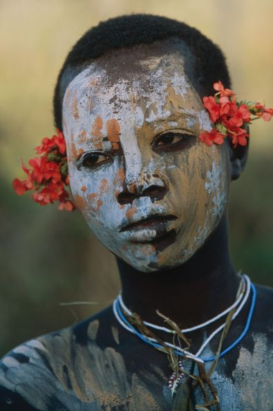 Series of photographs by Hans Silvester documenting the extraordinary body painting of the Surma and Mursi peoples of the Omo Valley in southern Ethiopia, Kenya and Sudan.