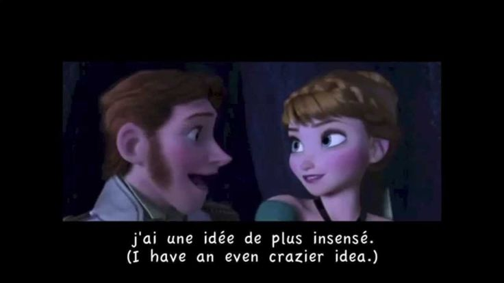 "From Disney's ""Frozen"" soundtrack, 'Love is an Open Door' (Canadian French) w/ subtitles and translation; or in this case, ""L'amour Est Un Cadeau"" (Love is a gift.)"