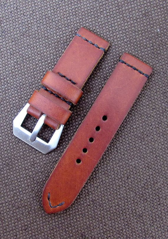 100% handmade Difues Leather manufacture. Brown leather vintage style watch strap for Panerai. Stainless Steel GPF Mod Dep watch buckle.  Brand: DIFUES leather Materials: Genuine leather, Stainless Steel Colour: Brown Size: Width - 20/20, 22/22, 24/24, 26/26 mm., Length - 125/75, 130/80,