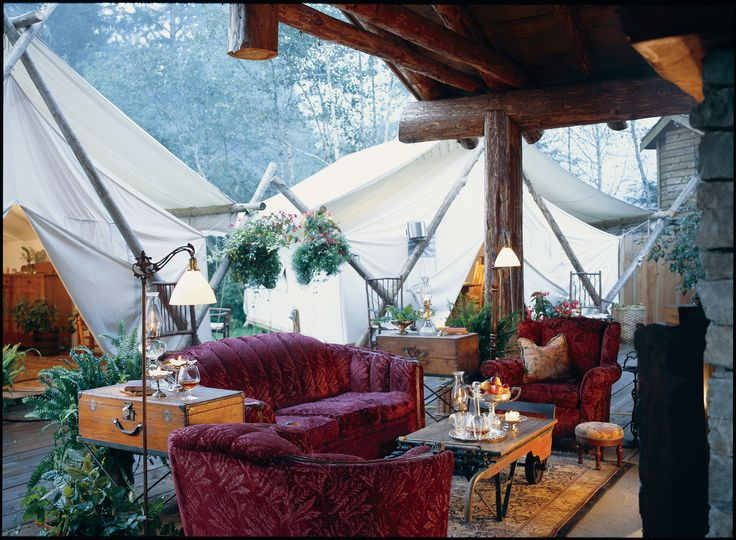 What a great place to relax after a day of activities. Outdoor lounge and fireplace at Clayoquot Wilderness Resort. www.wildretreat.com
