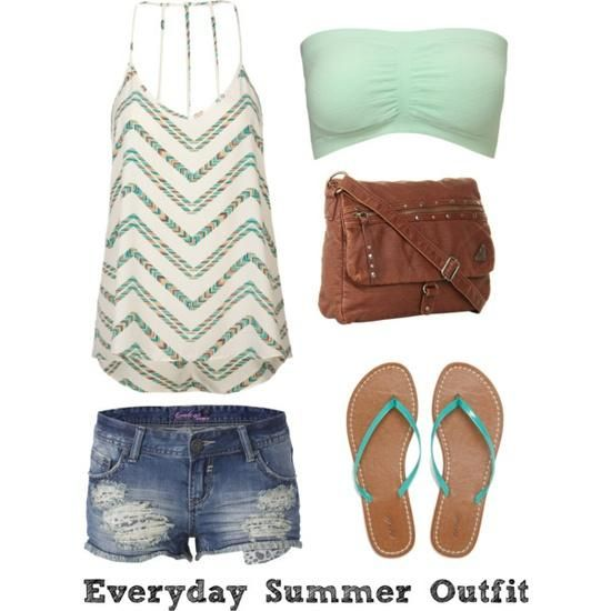 Tiffany Singer: Everyday Summer Outfit - Polyvore A fashion look from May 2013 featuring Full Tilt tops, Forever 21 tops #Lockerz
