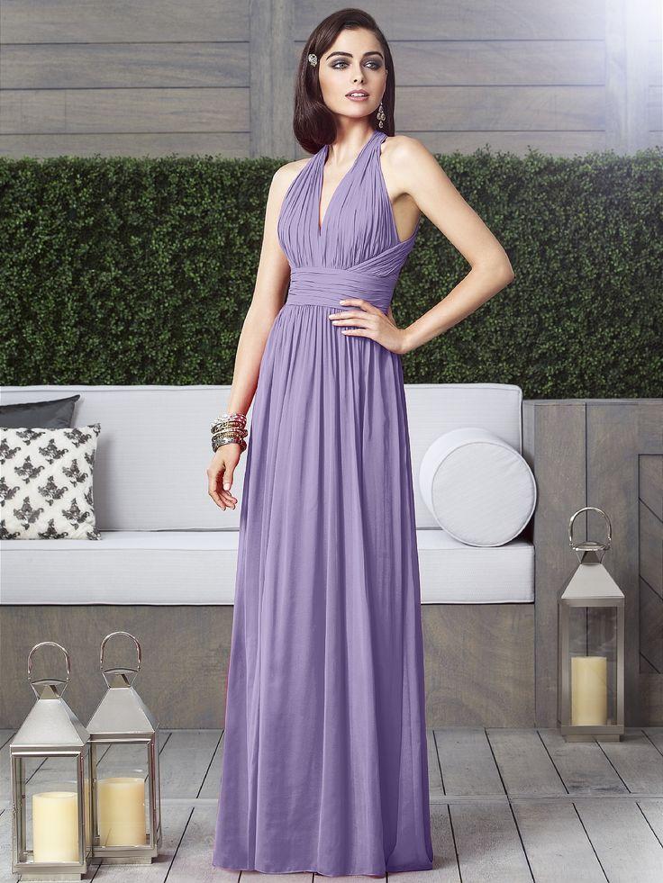 Purple Grecian Bridesmaid Dresses