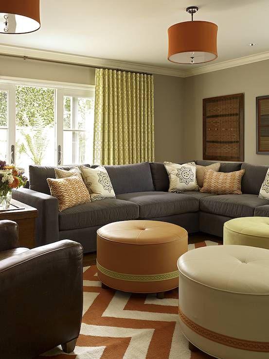 Pinterest - wohnzimmer braun orange