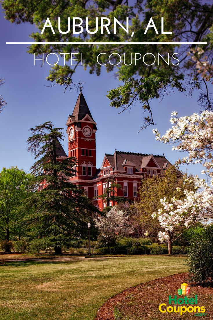 Find the cheapest hotel rates in Auburn, AL using our hotel coupons for last minute deals!
