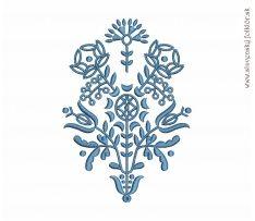Výšivka Myjava, 17x12 cm, modrá