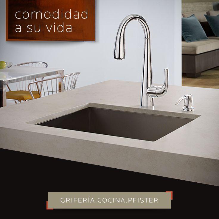 COMODIDAD A SU VIDA | Alea de Psfister es un grifo sofisticado con curvas suaves y líneas limpias, estilo mínimal que combina perfectamente con cualquier cocina contemporánea.  Pídelo aquí: DECERAMICA.COM