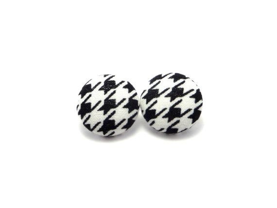 Hey, I found this really awesome Etsy listing at https://www.etsy.com/listing/240914697/black-houndstooth-fabric-covered-button