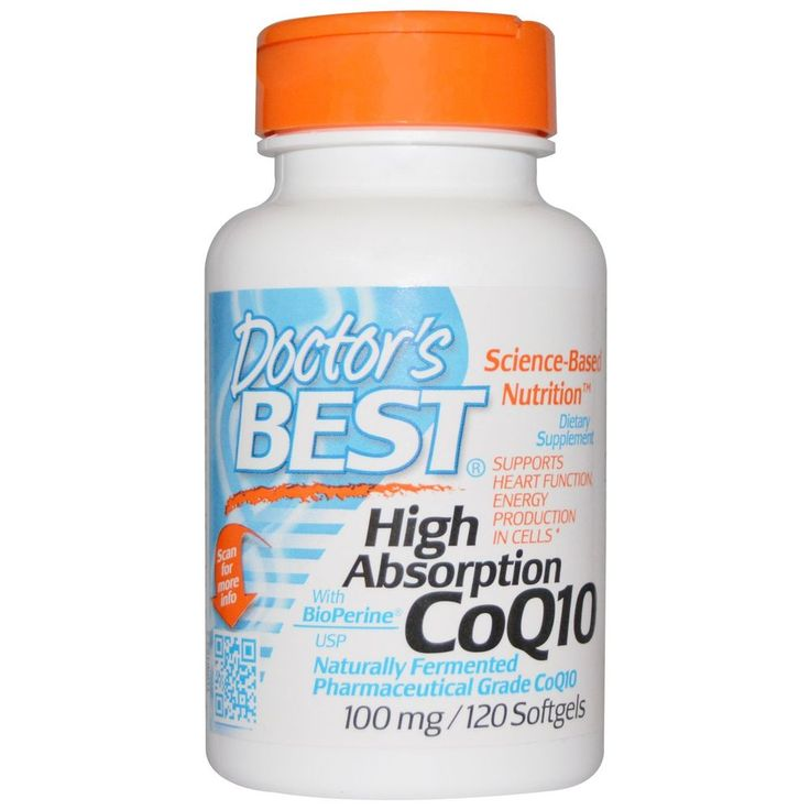 Doctor s Best, CoQ10, with BioPerine, 100 mg, 120 Softgels