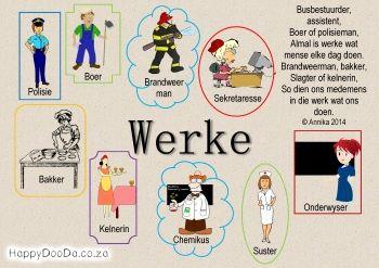 Home School: Grade R - Week 21 - Werke / Jobs - Happy Doo-Da