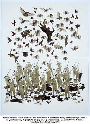 Check out artist Marcel Dzama's work