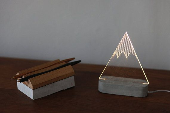 Modern snowy mountain lamp, mountain lamp, table lamp, night light, winter decorative lamp