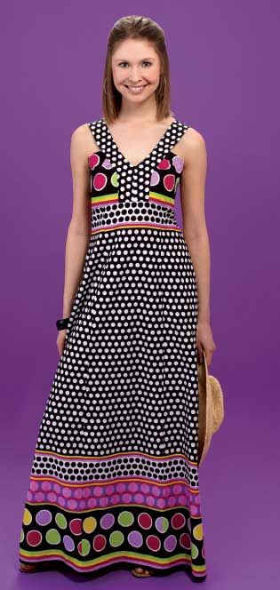 Halter dress... I don't see me wearing these colors but I love a maxi dress... maybe something on the top?!?!?!