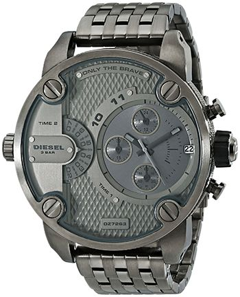 Montre Homme Diesel DZ7263 - Quartz Chronographe Date - Cadran et Bracelet en Acier inoxydable Gris