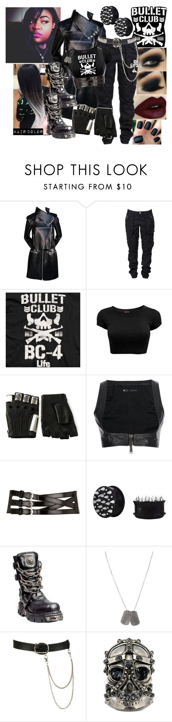 """""""💀Me As A Bullet Club Member💀"""" by black-onyxx ❤ liked on Polyvore featuring CÉLINE, Majesty Black, Dsquared2, Dorothy Perkins, Wet Seal and Alexander McQueen"""