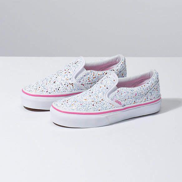 baby girl glitter vans