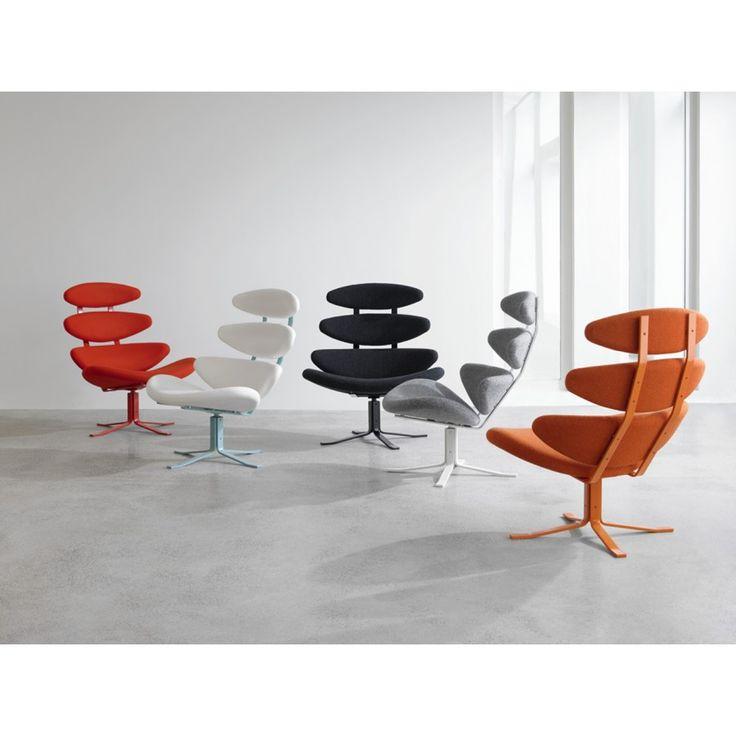 Fauteuils colorés Corona de Poul Volther - Le meilleur du design scandinave