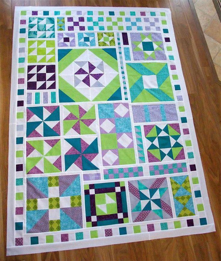 Block sampler quilt. A4A QAL 2013 Wilma Bergsma