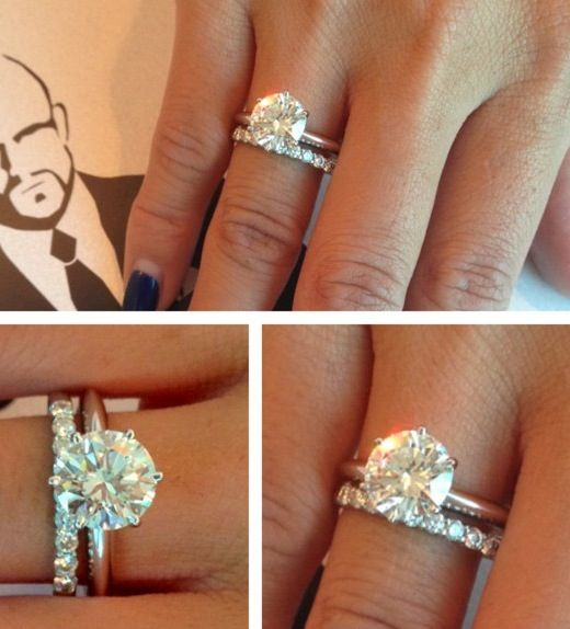 Perfect Engagement Ring and Wedding Band... Simple yet one of my favourite designs.
