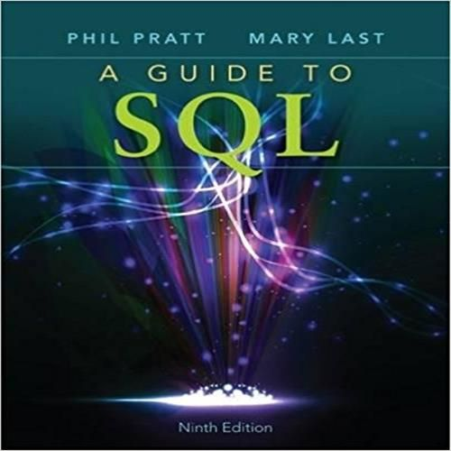 The 73 best test bank images on pinterest manual textbook and a guide to sql ninth edition provides an effective introduction to sql programming using straightforward instruction extensive hands on exercises fandeluxe Images