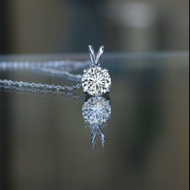 1 CT round simulated diamond - Diamond Veneer solitaire pendant, 635P100A