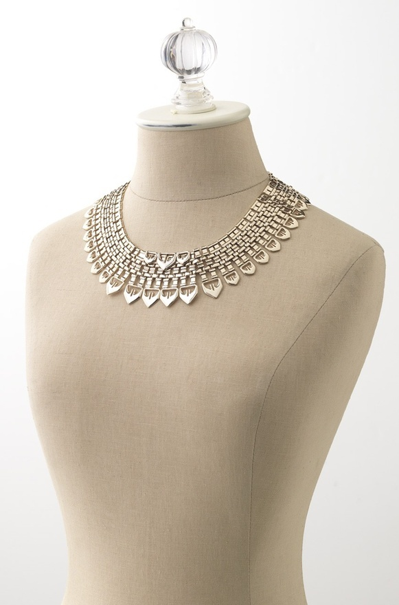 """Stella & Dot's GORGEOUS limited-edition """"Fatima"""" necklace from their Design Studio collection (as featured in Marie Claire) is 50% OFF through June 24! Use promo code FB200kFAN at checkout! www.stelladot.com/LRadcliff"""