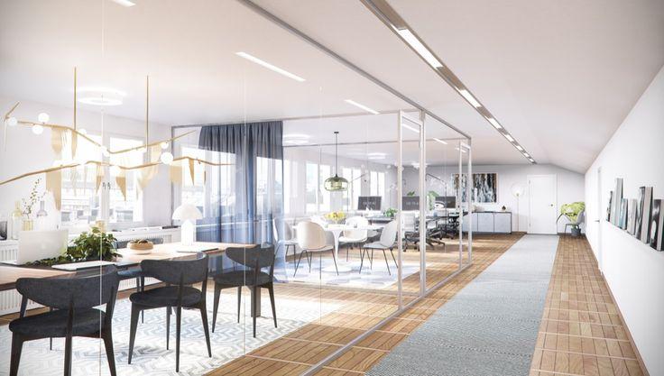 Biblioteksgatan 1, Office, Stockholm, Interior design, Scandinavian design, 3D visualisation, render, archviz, 3Ds Max, modern design, styling 9d