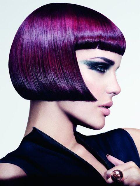 Surprisingly purple frame hair !!!