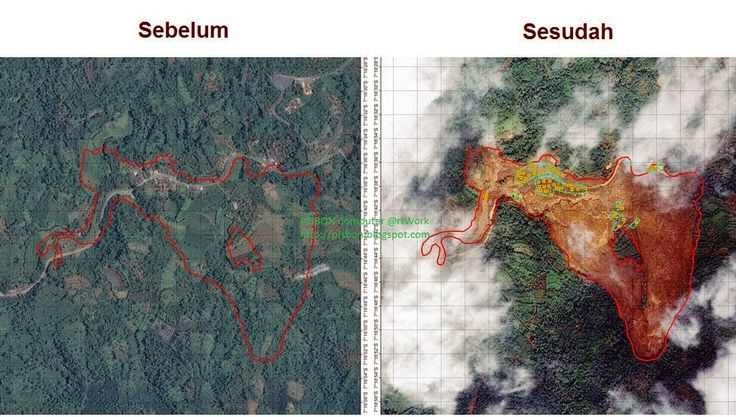 Foto Satelit Sebelum Sesudah Longsor Banjarnegara