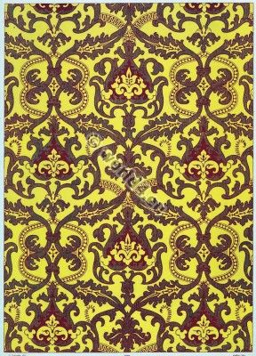 French Baroque Design Fabrics 17th Century Medieval Textil
