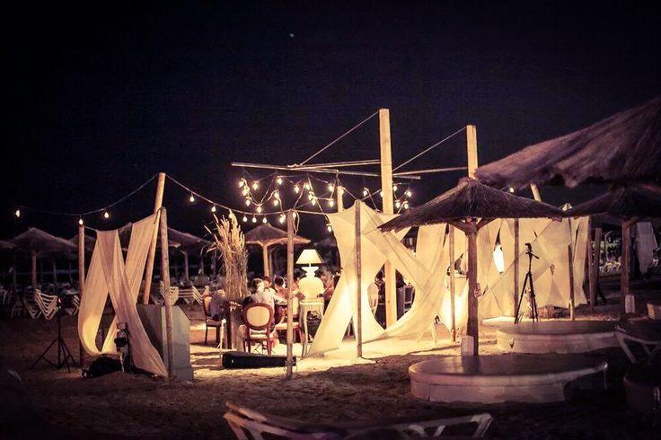 Dinner on the sand- Crazy Beach Mamaia