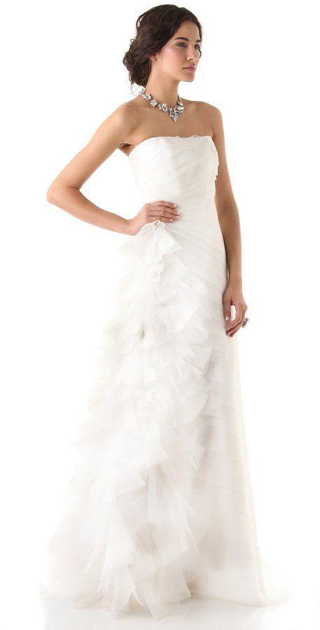 Pin for Later: Les Meilleures Robes de Mariée du Web  Reem Acra Robe Bustier (7,112€)