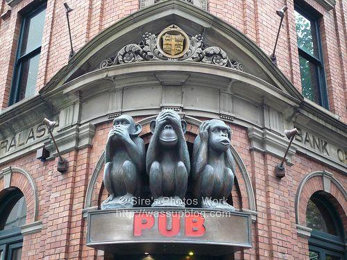 Three Wise Monkeys Sydney CBD...
