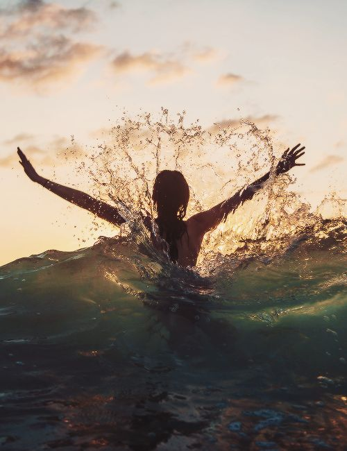 A swim in the ocean