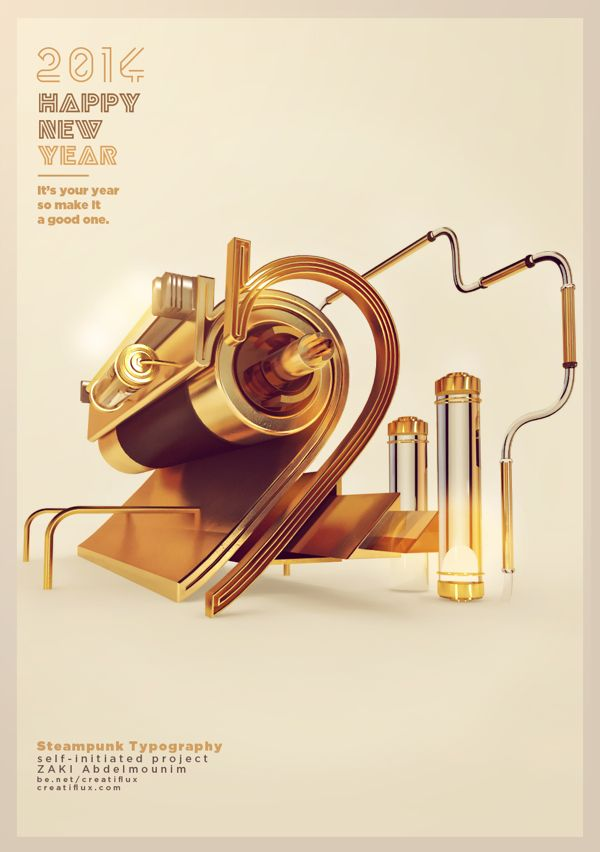 2014 Steampunk Poster by ZAKI Abdelmounim, via Behance