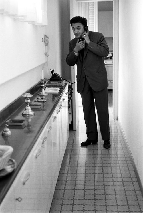 Federico Fellini at home in Rome, 1959