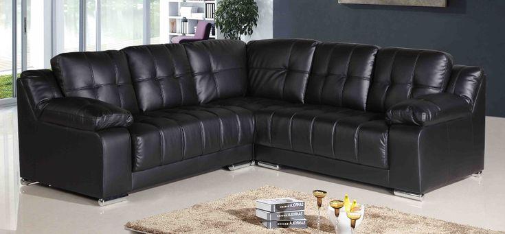 http://www.bebarang.com/gorgeous-cheap-leather-couches/ Gorgeous Cheap Leather Couches : Vancouver Black Leather Corner Sofa Cheap Leather Couches