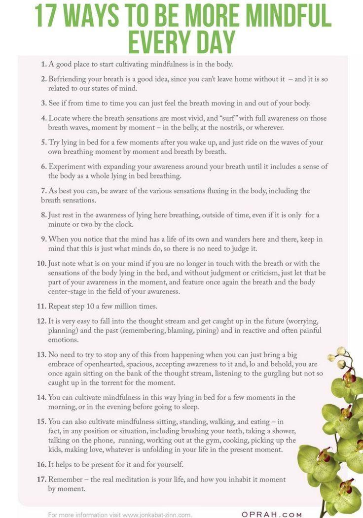 Mindfulness Meditation Mindfulness exercises