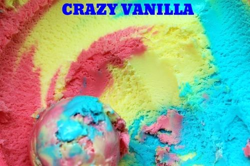 Pink Yellow Amp Blue Vanilla Ice Cream