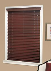 what do you think about blinds that match the wood pieces with a valance over the