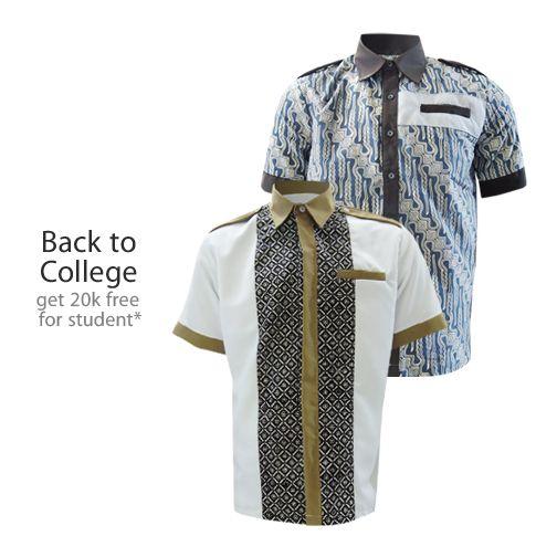 Back to College Promo! Dapatkan potongan 20.000/pc* s.d 31 Agustus 2014 *khusus pelajar/ mahasiswa  #kemejabatikmedogh  http://medogh.com/baju-batik-pria/kemeja-batik-pria