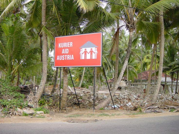 Tsunami-Hilfe in Sri Lanka, 2004. Kurier Aid Austria finanziert mit den Spenden der Kurier-Leserinnen und Leser Hilfsprojekte. (Foto: Andrea Winter) http://kurier.at