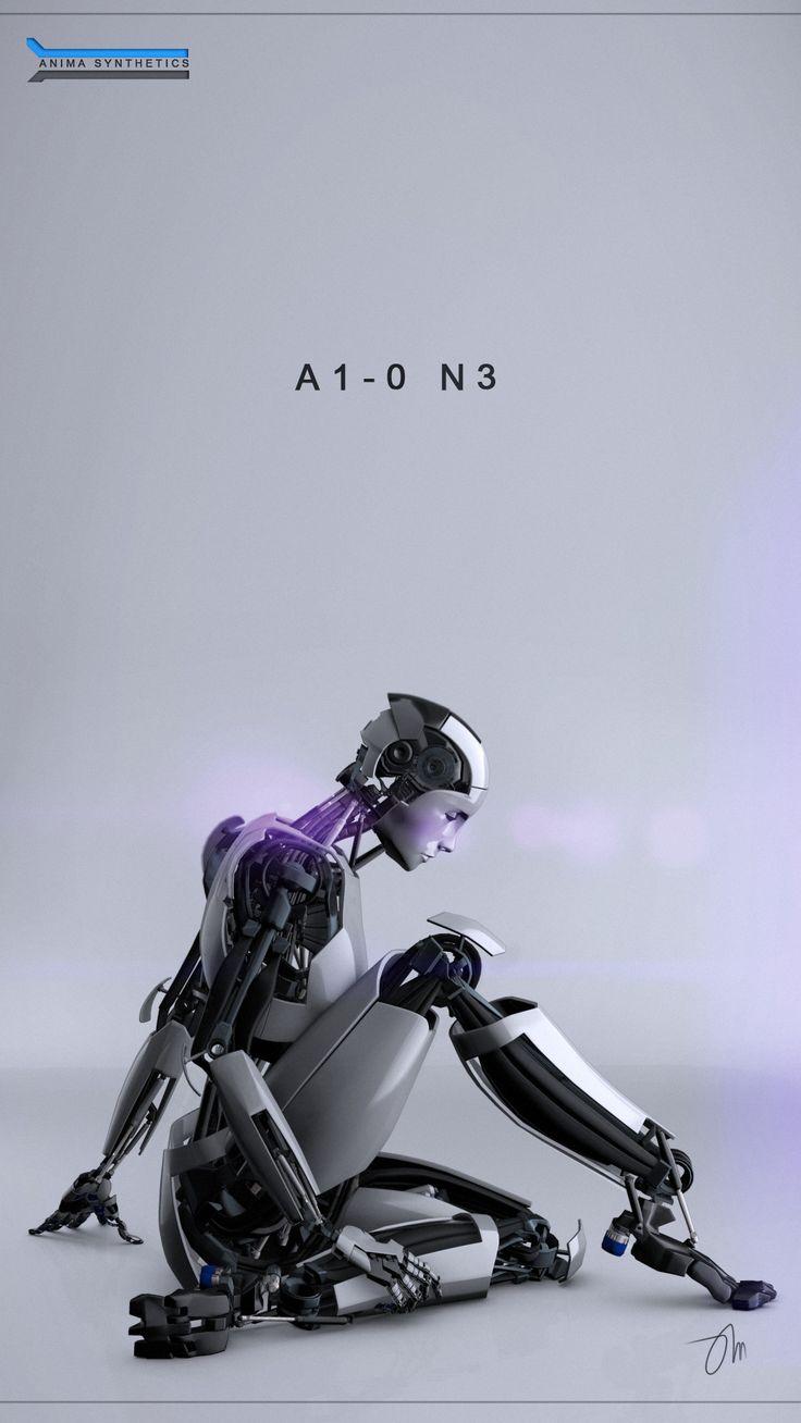 """A1-0 N3 Sitting"" by JasonMartin3D 2011-2014 @deviantART 198140274 • tools: Autodesk Maya 2011 + Psd CS4"