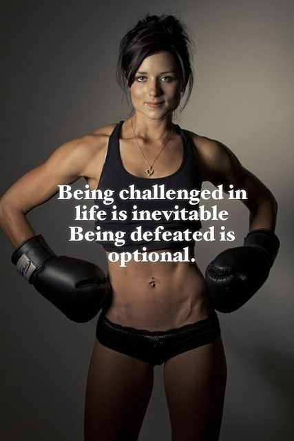 Fitness Motivation :Being Challenged in Life is Inevitable Being defeated is Optional....