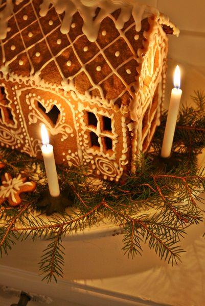 Gingerbread house, never made one, must try it.