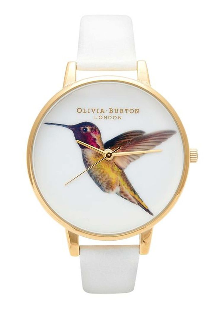 Olivia Burton Hummingbird Watch - White- If i were to be watch wearer i would want to wear this little lovely:)