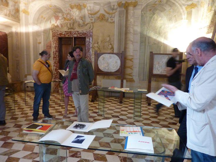 Fabio Mazzieri e alcuni degli autori dei Libri d'artista.