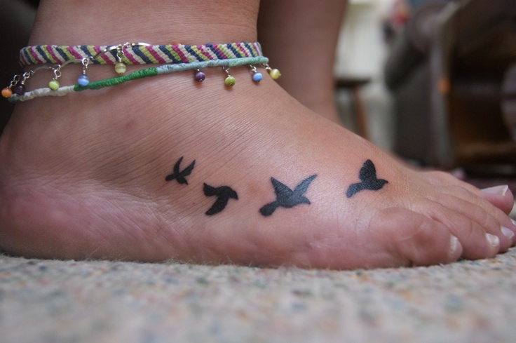 50 best tattoos images on pinterest alis volat propriis for Birds on ankle tattoo