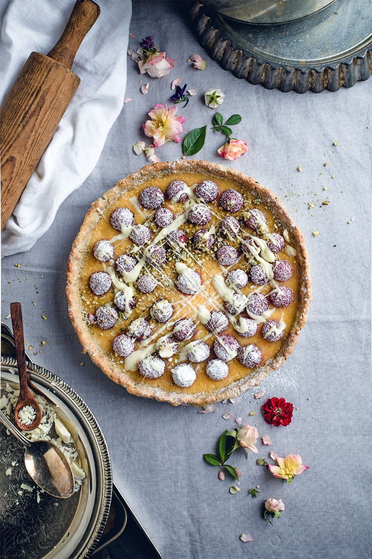 Pistachio Lemon Raspberry Tart (Dairy-Free)