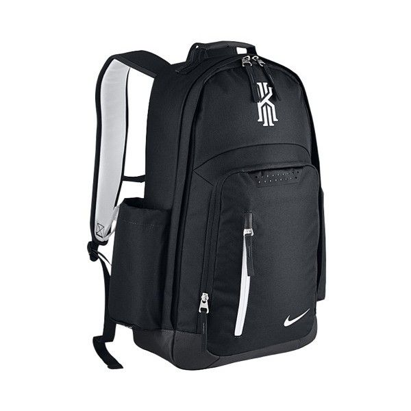Nike Kyrie Backpack - Basketball - Accessories - Irving, Kyrie -... ❤ liked on Polyvore featuring bags, backpacks, nike bags, black white bag, rucksack bags, backpack bags and black and white backpack