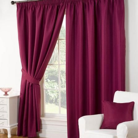 Hamilton McBride Aubergine Purple Traditional Wenden Pencil Pleat Curtains